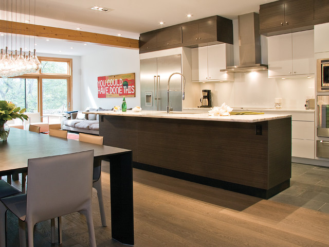 Cirrus Slate Grey Zebrano with Cirrus Oyster - Modern - Kitchen - toronto - by AyA Kitchens and ...