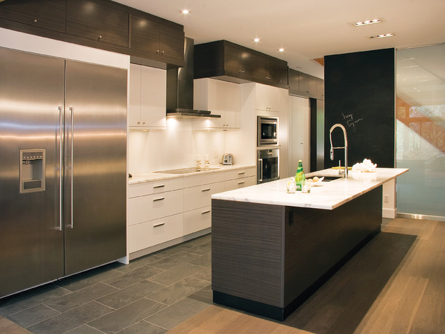 Slate Grey Zebrano with Cirrus Oyster - Modern - Kitchen - toronto ...