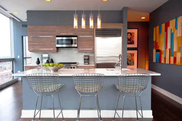 City Highrise contemporary-kitchen