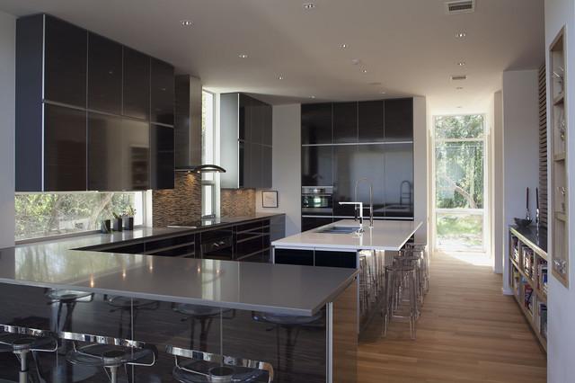 contemporary, custom-designed kitchen