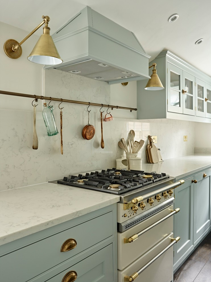 Example of a small classic kitchen design in London