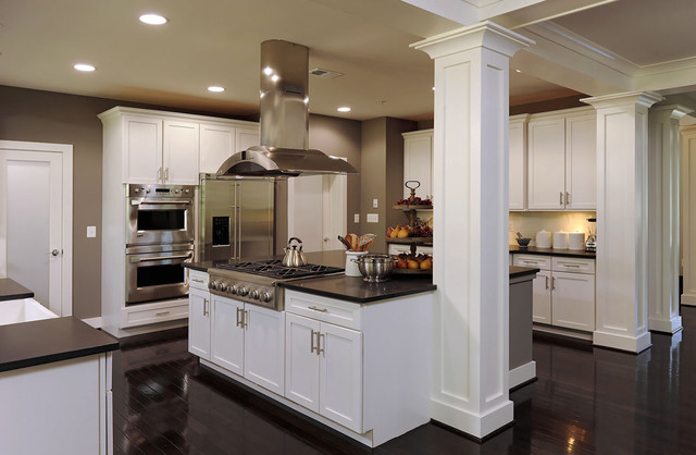 Kitchen Transitional Idea In Dc Metro With Stainless Steel Liances