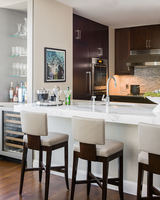 Back Bay Residence contemporary-kitchen