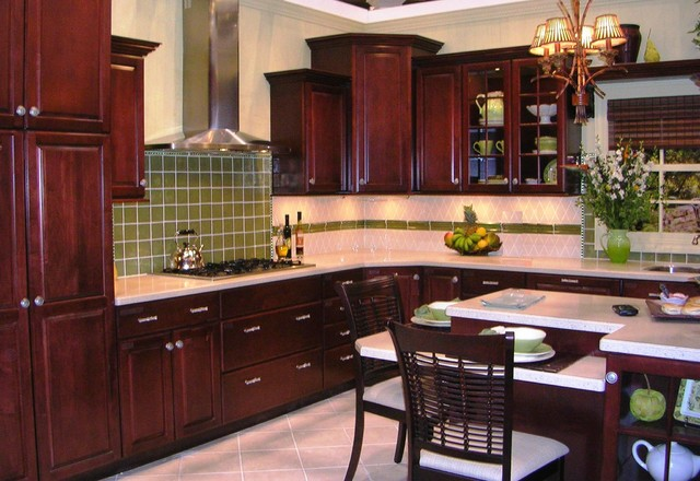 Medium image of classic american cherrywood kitchen in silicon valley ca traditional  kitchen