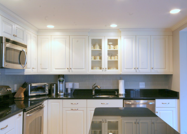 classic black and white kitchen - traditional - kitchen - boston