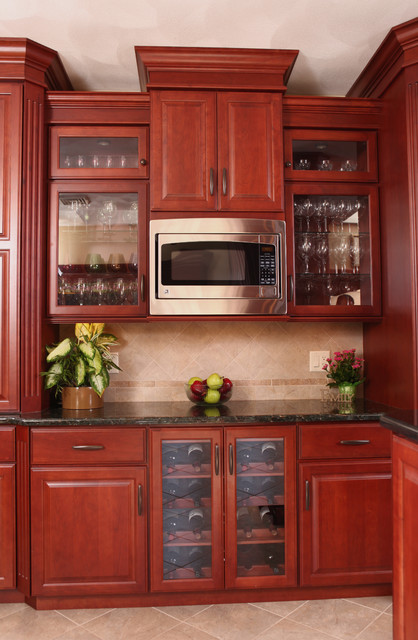 classic cherry traditional kitchen new york by