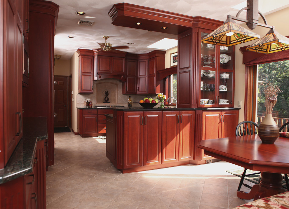 Classic Cherry - Traditional - Kitchen - New York - by ...