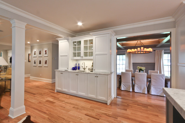 classic coastal colonial renovation - the anti mcmansion - traditional - kitchen - newark