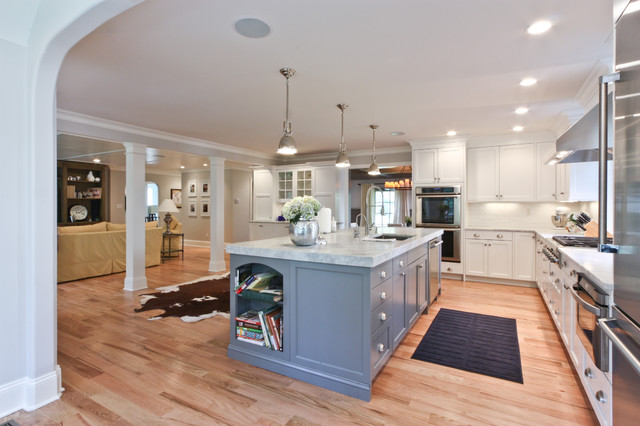 Classic Coastal Colonial Renovation - the Anti McMansion industrial kitchen