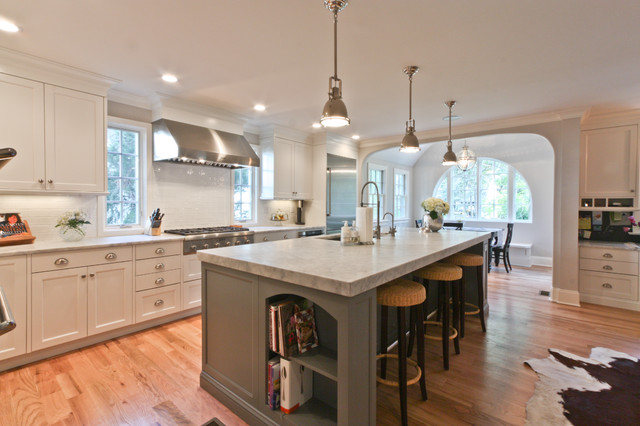Classic Coastal Colonial Renovation - the Anti McMansion traditional kitchen