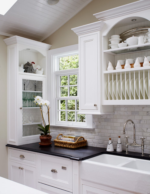 Classic Cottage Beach Style Kitchen new york by