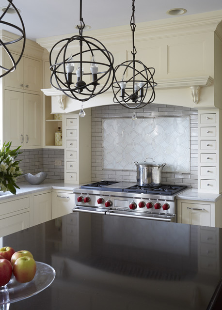 Classic Cream Colored Kitchen In Naperville Transitional