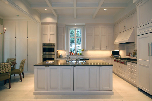 Classic cupboards transitional kitchen design for Classic kitchen cabinets inc