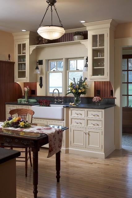 Classic Farmhouse Kitchen - Farmhouse - Kitchen - boston ... on Luxury Farmhouse Kitchen  id=47994