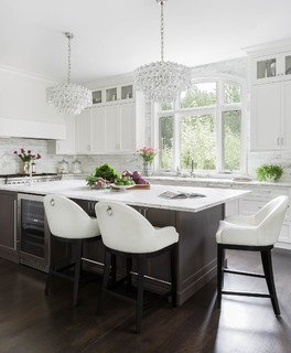 white kitchens with dark island 3