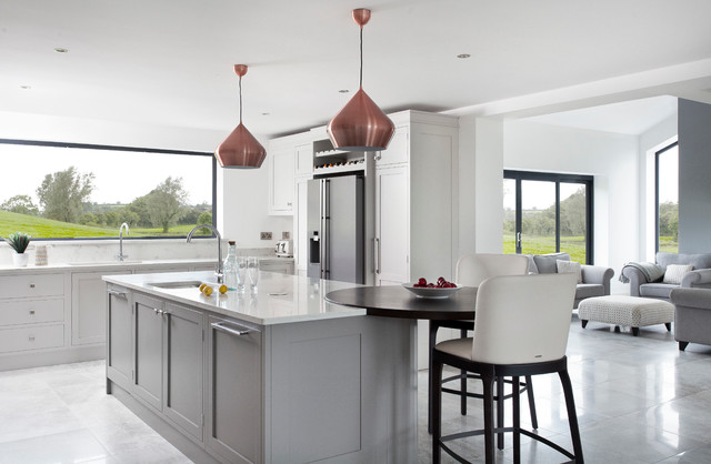 classic hand painted light grey kitchen contemporary kitchen northern ireland by the