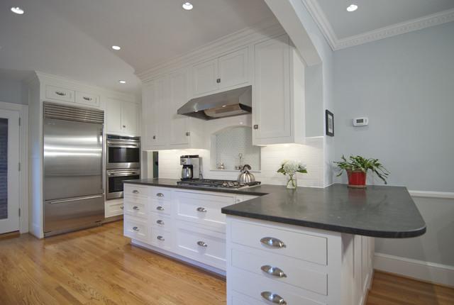 Black granite kitchen countertops - Classic Kitchen Contemporary Kitchen Dc Metro By