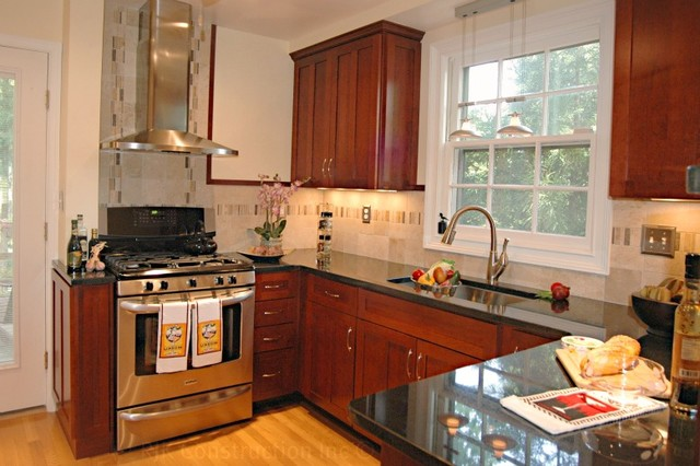 Classic kitchen with archway traditional kitchen dc for Classic kitchen cabinets inc