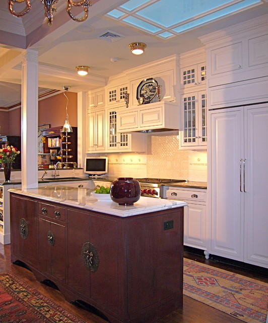 Classic kitchen with Asian influence eclectic-kitchen