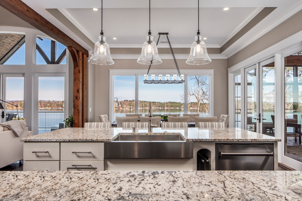 Classic Lake House Custom Home Rustic Kitchen Other By Alair Homes Clemson