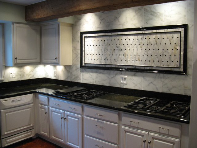 Classic Marble Kitchen Backsplash Traditional Kitchen