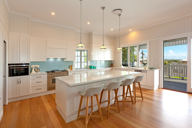 Classic Queenslander Renovation American Traditional Kitchen Brisbane By Synergy Building Design