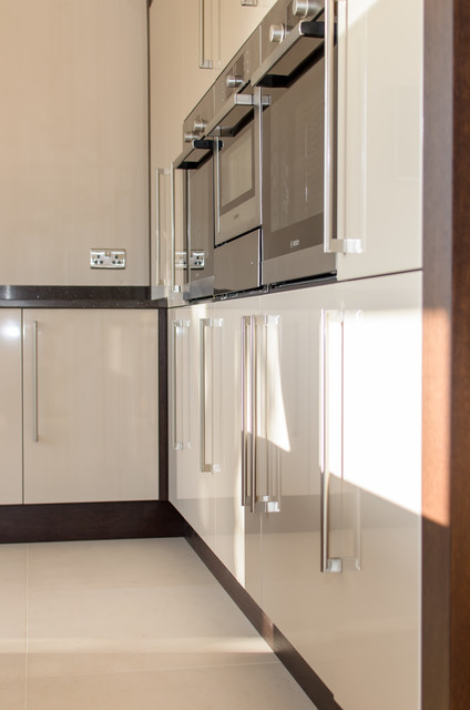 Metris Gloss Beige and Linear Wenge contemporary-kitchen