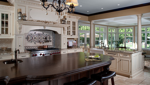 Classic Scarsdale Brick Colonial Traditional Kitchen