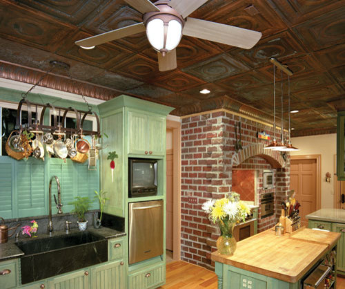Classic Tin Ceiling Tiles Eclectic Kitchen Miami