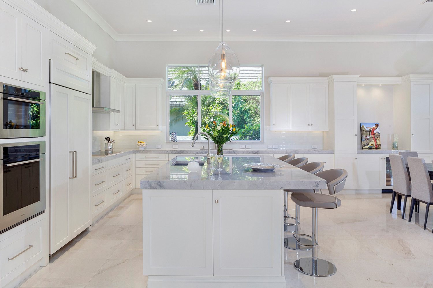 75 Beautiful White Marble Floor Kitchen Pictures Ideas July 2021 Houzz
