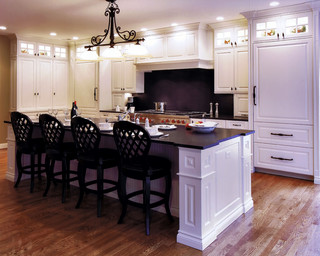 Stunning Traditional White Kitchen with hidden door