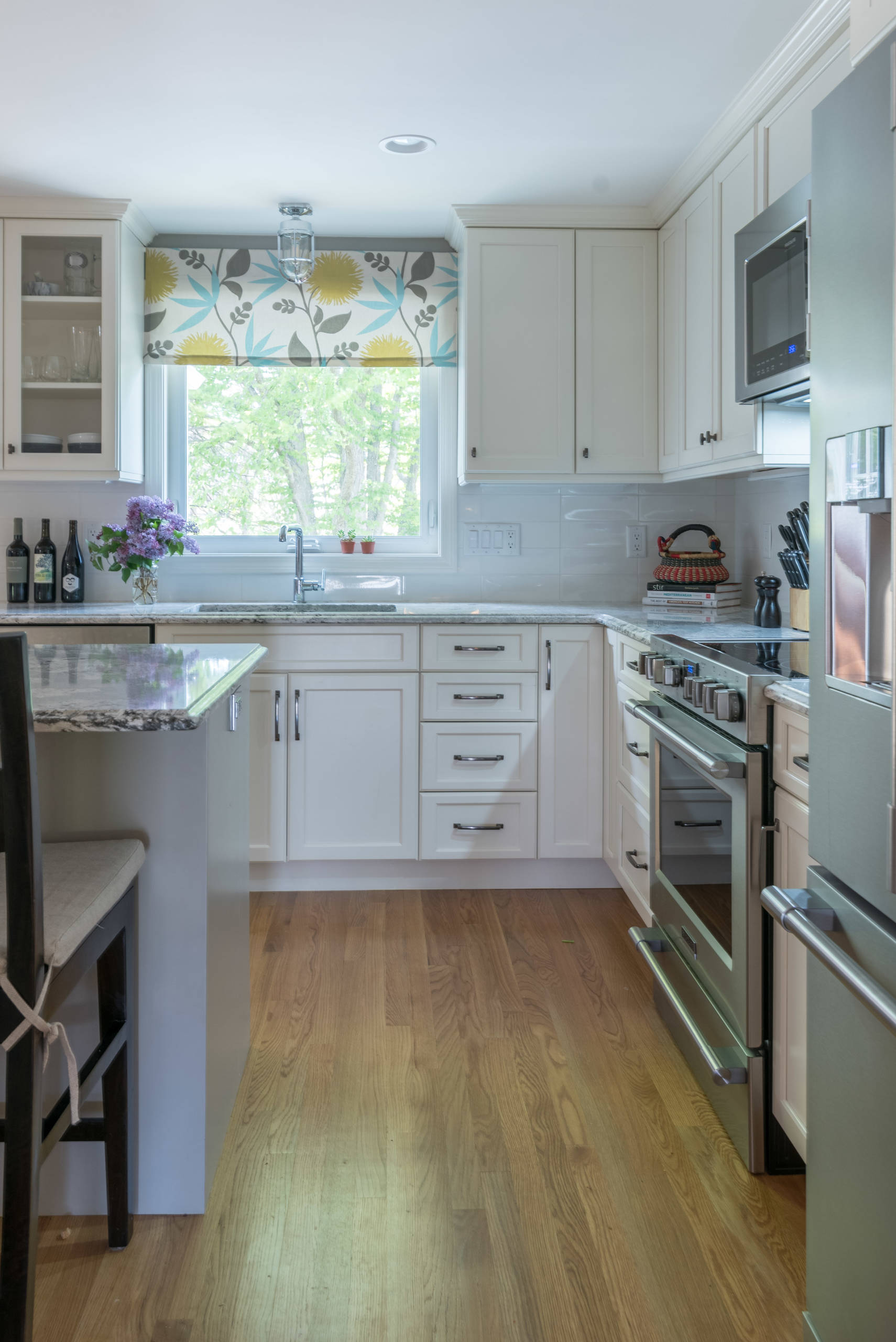 Classic white cabinets