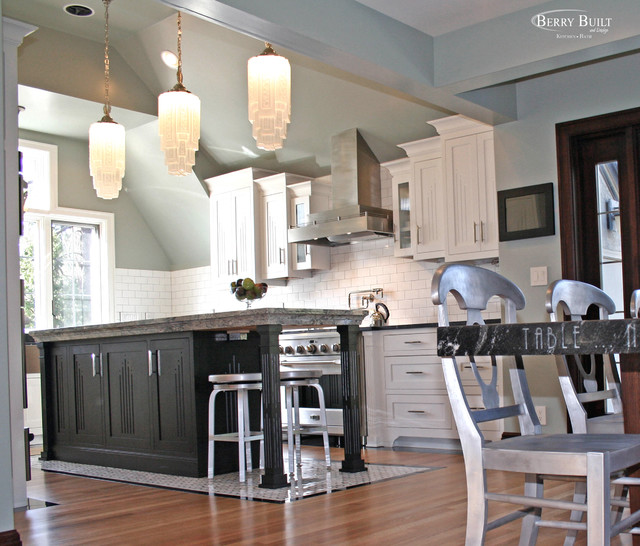 Classic white kitchen traditional kitchen seattle for Classic kitchen cabinets inc