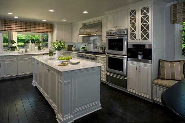 Classic white kitchen traditional kitchen orange for Award winning small kitchen designs