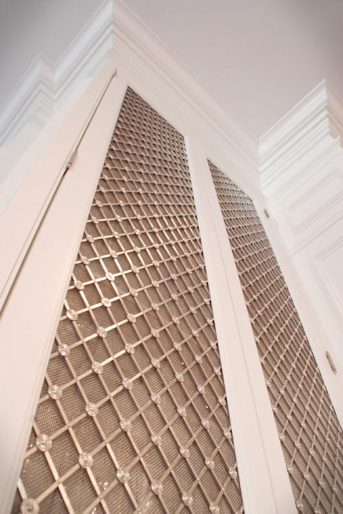 Cabinet Design: Metal Mesh Cabinet Inserts -