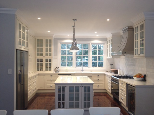 Classic White Kitchen In Australia Traditional Kitchen Other Metro By Ikd Inspired