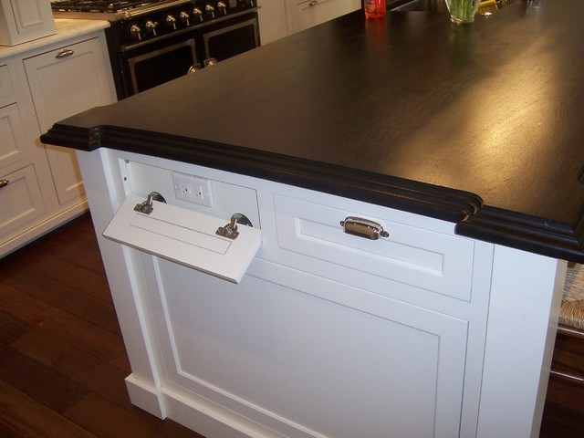 Kitchen Island Electrical Outlet recessed electrical outlets | houzz