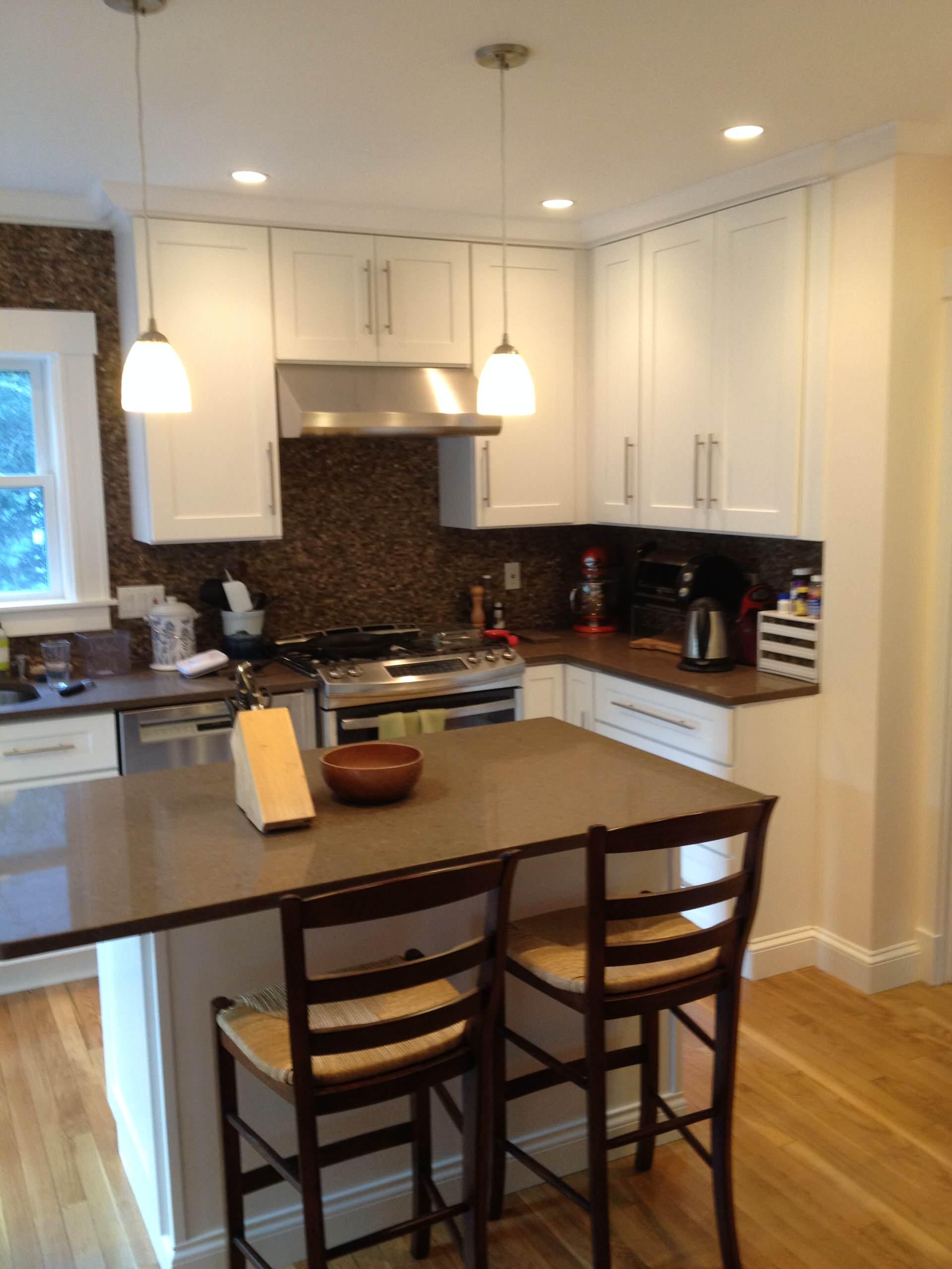 Classic white kitchen.