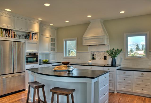 classic white kitchen traditional kitchen seattle by sadro design studio inc. Black Bedroom Furniture Sets. Home Design Ideas