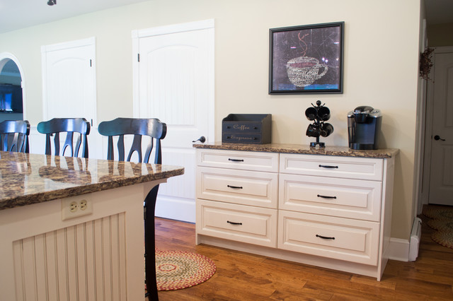 Classic white kitchen with coffee bar goldsboro md Olive garden goldsboro