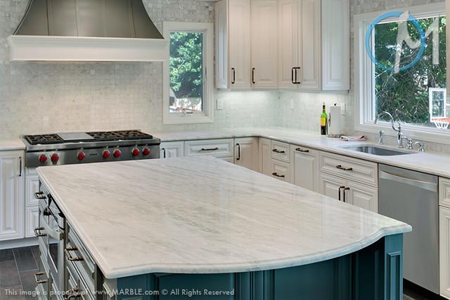 White Quartzite Countertops : Classic white lunar quartzite marble contemporary