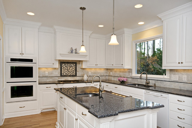 Classic White Perfectly Balanced by Creams and Blues traditional-kitchen