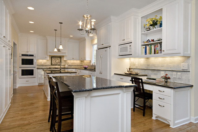 Classic White Perfectly Balanced By Creams And Blues Traditional Kitchen Raleigh By Emma