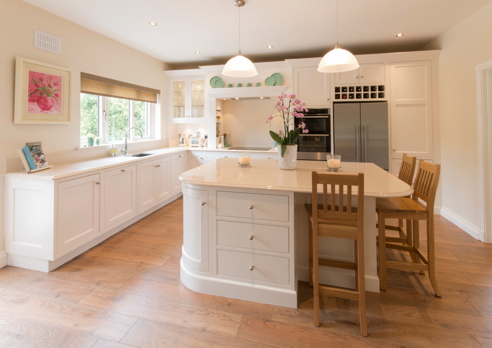 Hand Painted Kitchen In Tumbled Marble