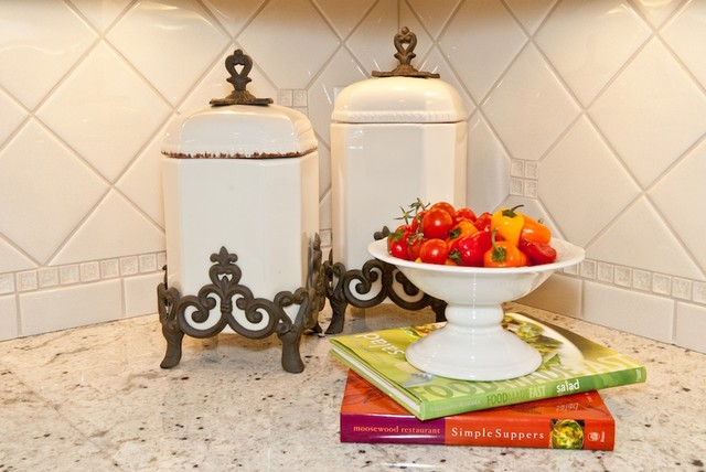 Classically White traditional-kitchen