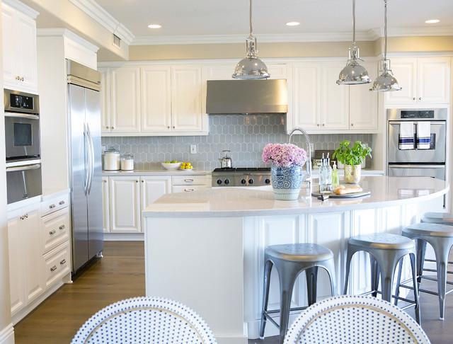 Bright Kitchen clean and bright kitchen remodel - transitional - kitchen - orange