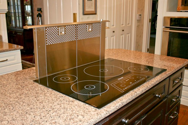 Thermador Cooktop Thermador Masterpiece 4 Galley Kitchen Idea In Seattle With Shaker Cabinets