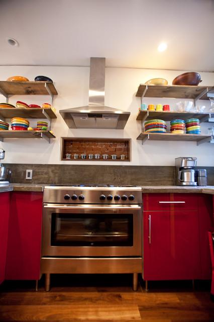 Clean industrial modern-kitchen