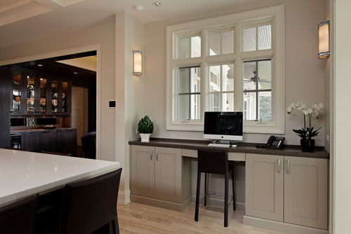 Modern Kitchen Office with Modern Barstool