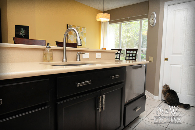 Clean Lined Trasnsitional Kitchen traditional-kitchen